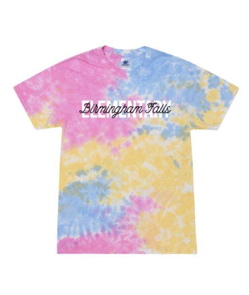 2021 Youth Tie-Dye Birmingham Falls Overlay Design